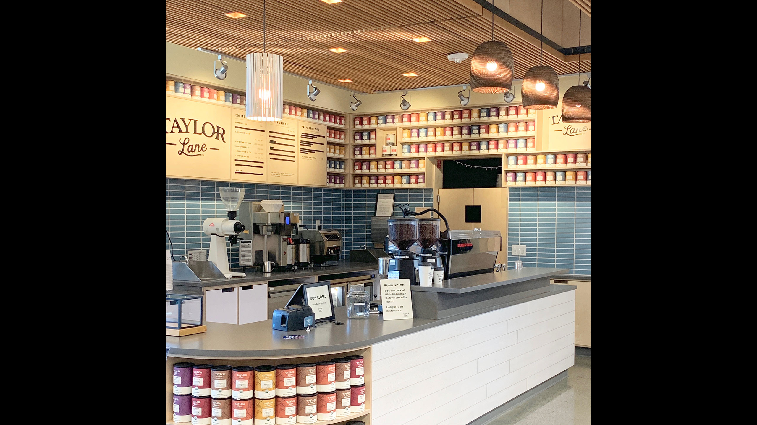 Coffee-Shop-Design-Taylor-Lane-3-Counter-with-dropped-armstrong-wood-ceiling