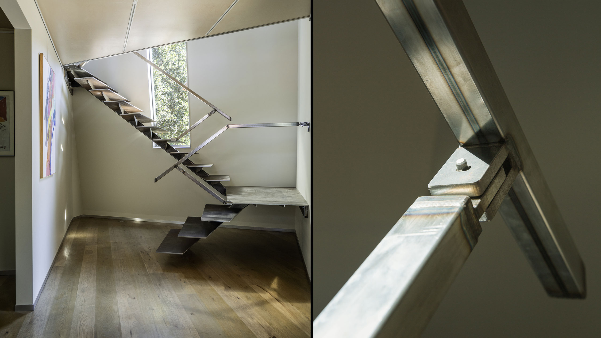 Custom-Home-Sonoma-County-MiJi-Custom-Metal-Stairs