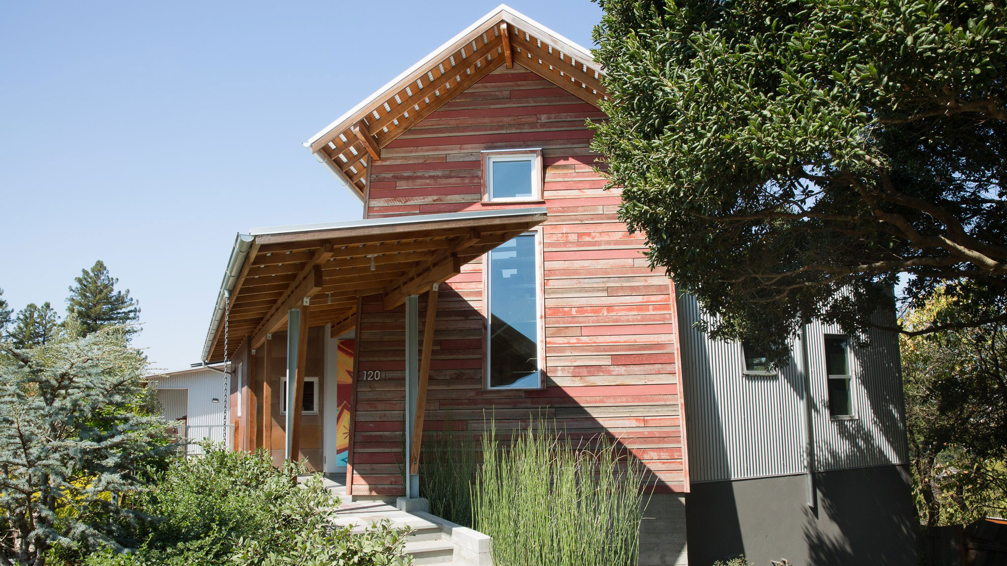 Custom-Home-Sonoma-County-MiJi-Tower-with-red-wood-facade