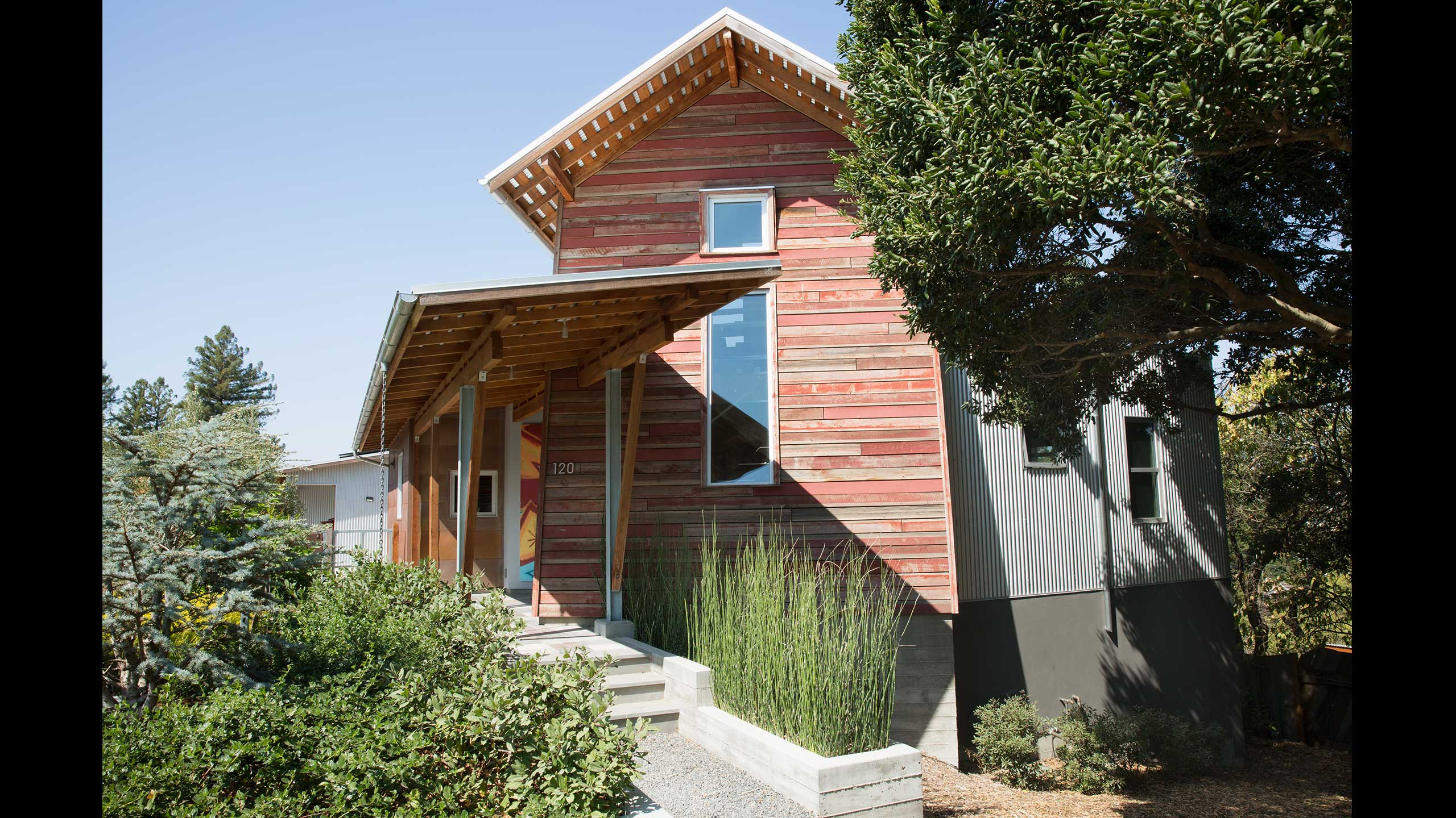 Custom-Home-Sonoma-County-MiJi-tower-and-barn-door
