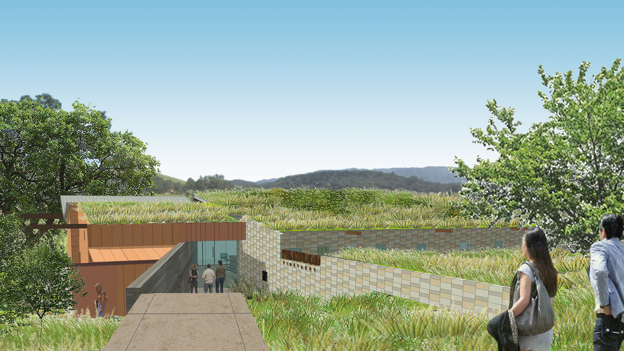 Kenwood-Sonoma-County-Vinyards-Tasting-Room-with-green-roof