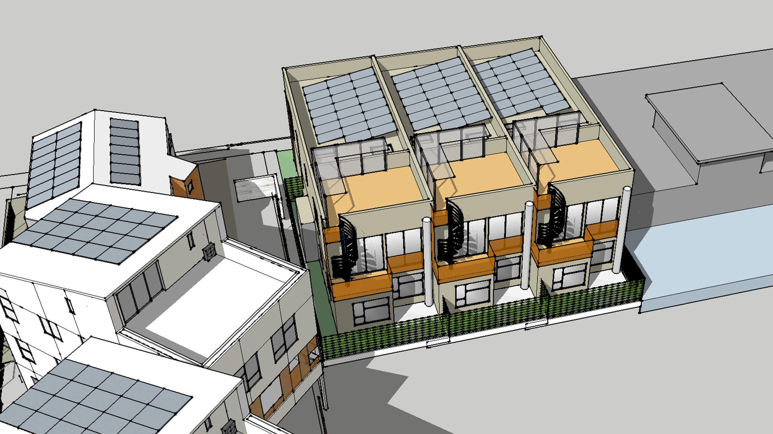 Modern-Multifamily-Sonoma-County-solar-panel-optimized-roof
