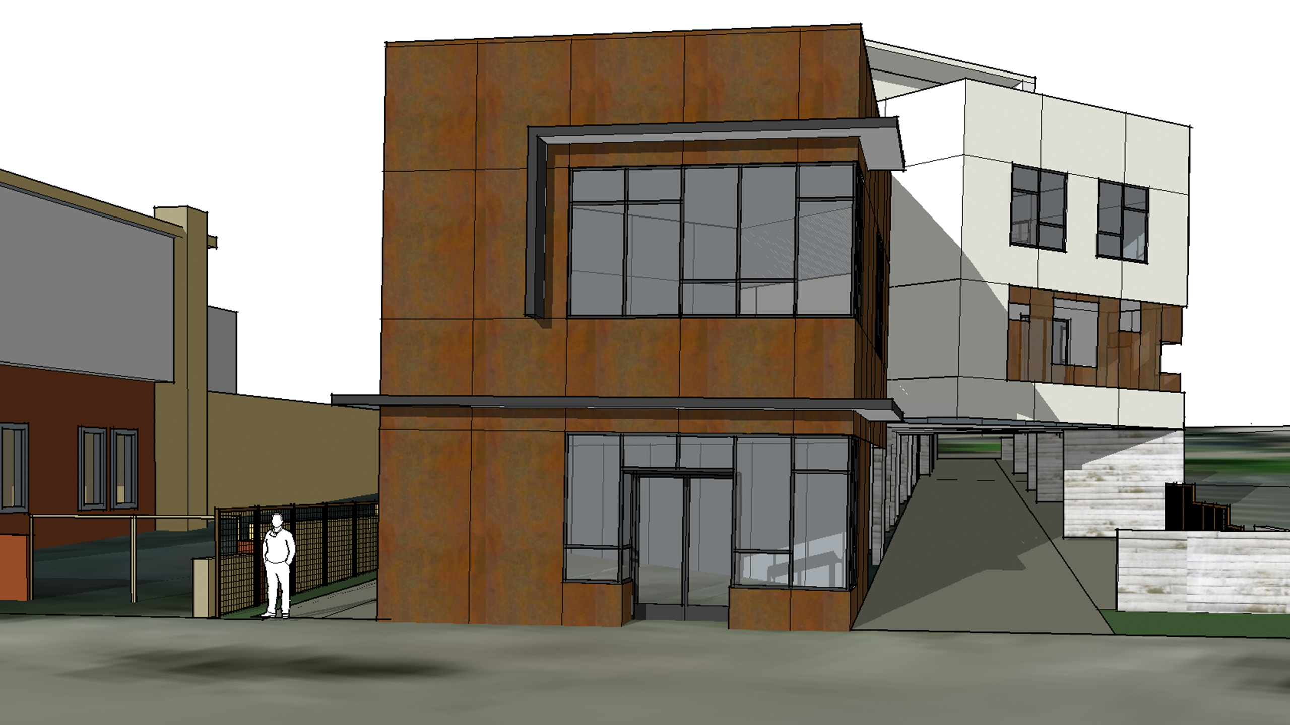 Net-Zero-Multifamily-Sonoma-County-Liberty-Lofts-exterior-view-of-modern-design