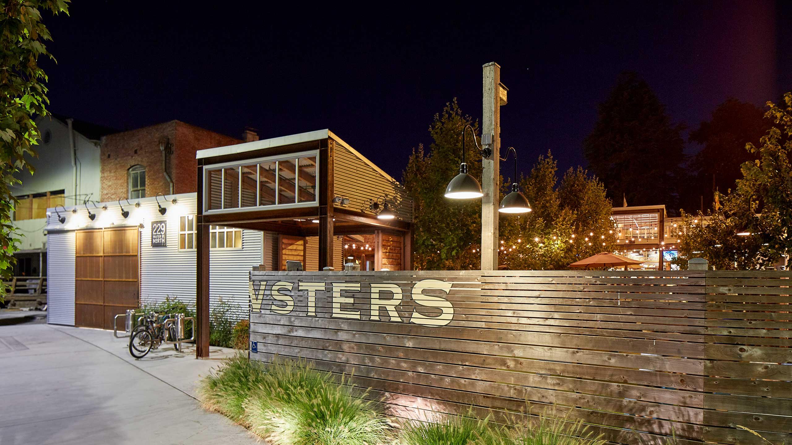Petaluma-Restaurant-Design-Brewsters-back-entrance-with-bicycle-parking