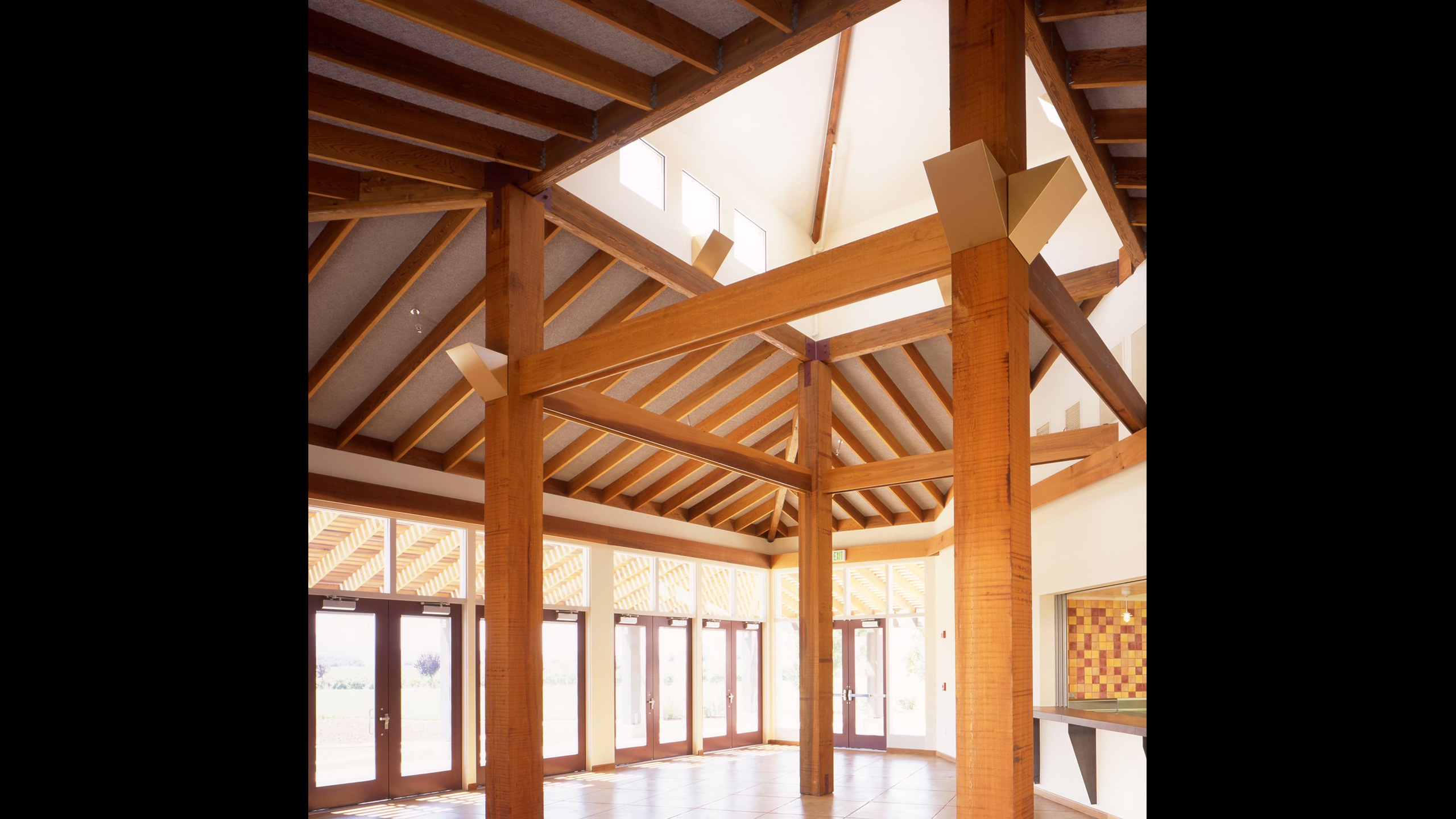 Winery-Architecture-Geyserville-Clos-du-Bois-wood-ceiling