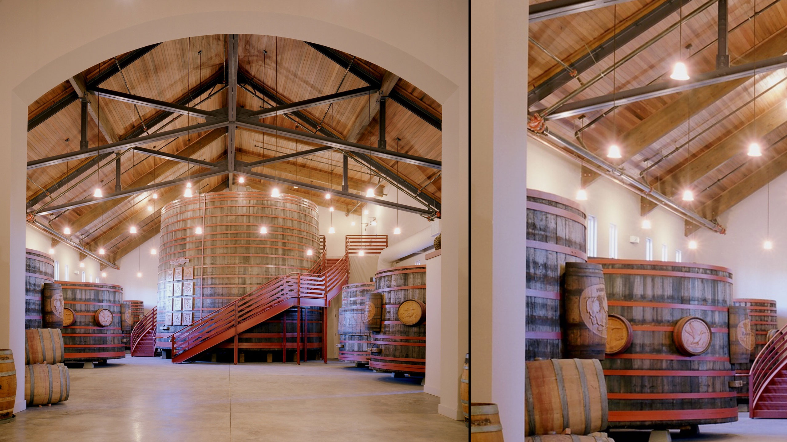 Winery-Architecture-Sonoma-Sebastiani-wine-barrel