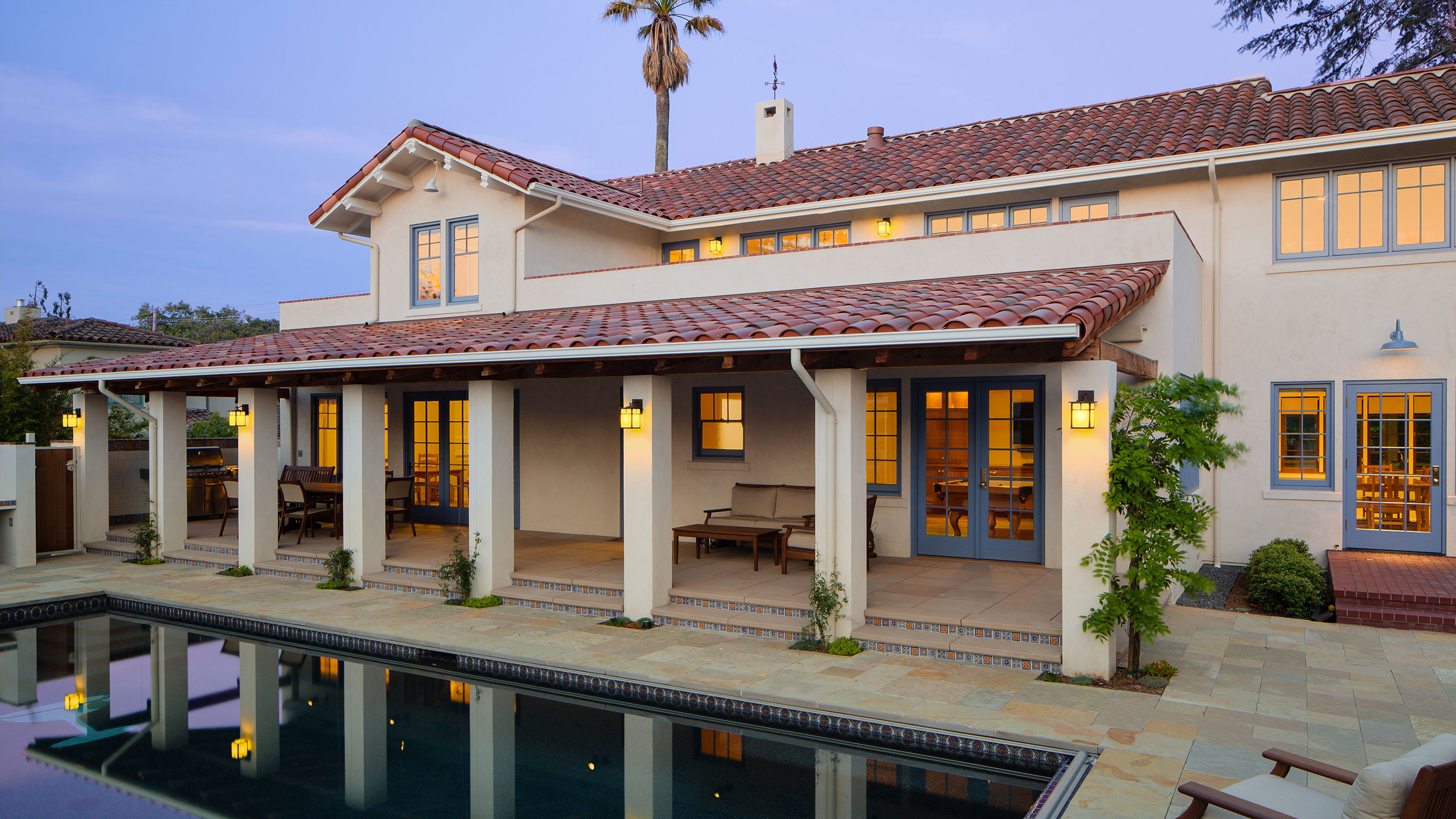 Home-Remodel-Petaluma-D-Street-Pool-covered-terrace-with-columns