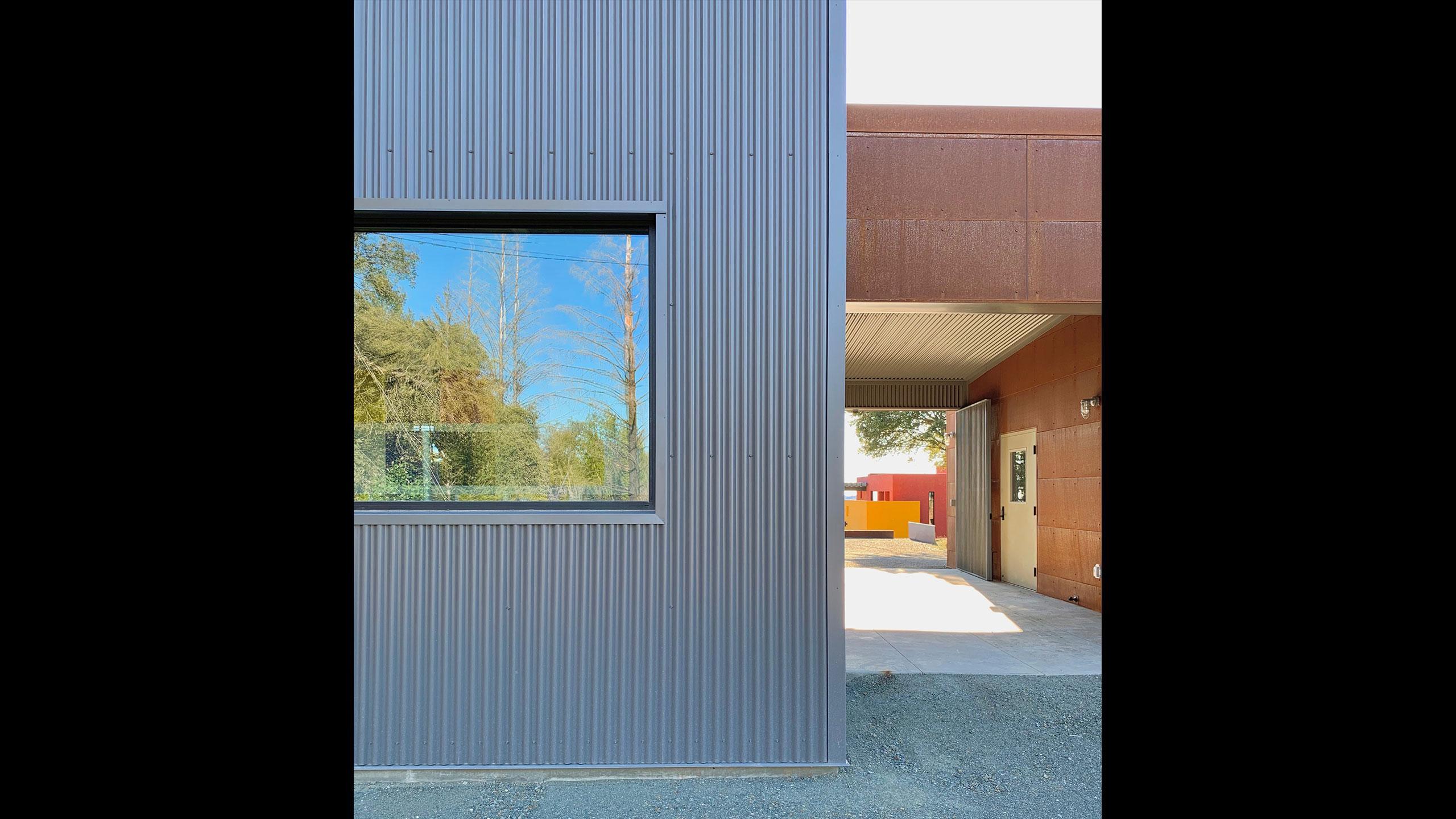 Glen-Ellen-metal-prefab-corten-steel-and-corrugated-metal-facade